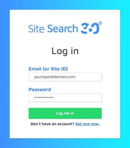 log in to existing ss360 account