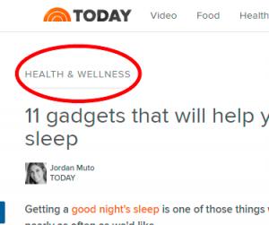 Health&Wellness category