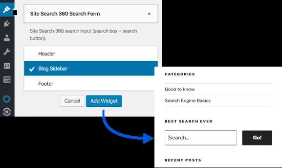 adding a search form widget to wordpress
